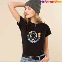 Women's T-Shirt Printed Vogue Ladies T Shirts Cryptocurrency Spiral Ethereum, , Litecoin Crypto Network, Qtum Tee