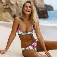 Batsuit sexy bikini Women's prints Batsuit for girls Thong Bikini Push Up Low waist Brazilian women Batsuit
