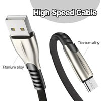 Titanium alloy High Speed 2.4A USB phone Cables Fast Charger Micro Type C Charging Cable 1M 2M 3M for Android Samsung Huawei