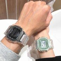Orologio da polso Coloful Watch Donne Uomo Gold Gold Casual Transparent Digital Sport Orologi da regalo Amante Orologio da regalo Bambini Orologio da polso per bambini Student Reloj Muje
