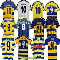 99 00 Parma Calcio Jerseys Home 1913 Retro Buffon 1995 1996 1998 1999 2000 2002 2003 Palma Soccer Jersey 95 96 97 98 01 02 03 Kits de camisa de futebol vintage Stoichkov