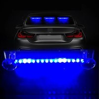 1pc Wireless LED Alarm Lights Car Solar Flashing Warning Light Auto Super Bright Colorful Universal Interior Decoration