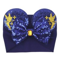 Baby Velvet Hair Belt Solid Color Hairpin Baby Sequin Glitter Big Bow Clips Mouse Ear Wide Boutique Headband Baby Girl Hair Accessories