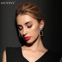 Dangle & Chandelier High Quality Trendy Minilalist Big Drop Earrings For Women Fashion Geoemetric Haning Wedding Boho Jewelry Gift