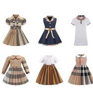 Baby Designer Dress Clothes Summer Princess Baby Girls Dress Kids Sleeveless Cute Plaid O-neck A-line Dress for Girls Clothes