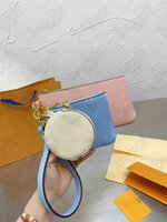 Trio Pouch Clutch Bag M80407 حقيبة يد نسائية مصمم من قبل بركة سباحة الصيف 2021 مجموعة ثلاثة حقائب 3 قطعة / مجموعات محافظ