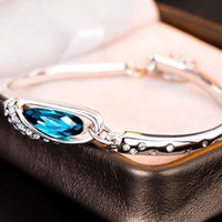 Hand catenary Glass shoes Silver Plated Austrian Crystal Bracelet inlaid with diamond Korean jewelry fashion