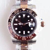 Orologio da polso da polso da uomo a quadrante automatico da 40 mm con orologio da polso con oro rosa con oro rosa con due tonalità in acciaio inox 126711 Bracciale in oyster Everose Gold Markers