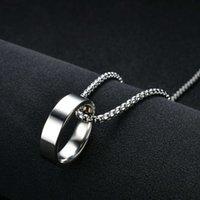 Мода хип-хоп личности кольцо ожерелье выучить корейский мужской кулон по пересеченным ювелирным украшениям подарок женский свитер цепьN56V
