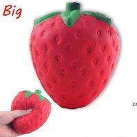 PU Squishy Strawberry Reliever Stress Jumbo Weihnachtsgeschenk Simulation Obst Cartoon Weiche Puppe Dekompression Spielzeug Squeeze Toys HWF8982
