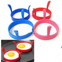 Egg frying machine Kitchen Silicone Fried Fry Frier Oven Poacher Egg Poach Pancake Ring Egg Mould Tool DHD6333
