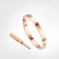Amor Fuga Bracelete Mens Pulseiras 4Diamonds Desenhador Bangle Luxo Jóias Mulheres Titânio Liga De Aço Ouro Artesanato De Ouro Prata Rosa