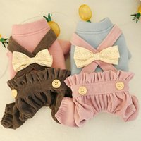 Dog Apparel Pet clothes autumn and winter Teddy Bichon puppies cat bloomers bow overalls