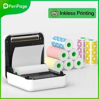 Printers 2021 A6 Peripage Portable Bluetooth Thermal Po Printer Wireless Inkless Mini Pocket Label Notes Papers