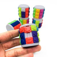 매직 칼럼 큐브 퍼즐 Fidget 장난감 손가락 스트레스 구호 EDC 안티 스트레스 해제 압력 어린이 어린이 성인 장난감