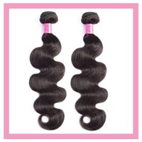 Brazilian Human Hair Body Wave 2 Bundles Natural Color Double Wefts Extensions 10-30inch Remy Wholesale