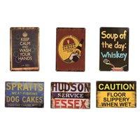 Soupe de la journée Signe de Whisky Metal Plaque Rétro Métal Tin Poster Pub Cafe Bar Club Garage Restaurant Car Station Voiture Vintage NHB6147