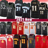Kevin 21 Garnett Anthony Trae Edwards Genç Basketbol Jersey Karl-Anthony Spud Towns Webb MinnesotaTimberwolvesAtlantaHawk
