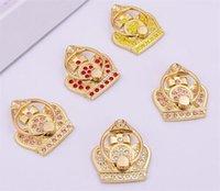 Diamanti di lusso Metal Telefono cellulare Supporto per cellulare imperiale Crown Dito Grip Cell Phone Stand per Samsung S8 Nota 7