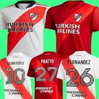 لاعب Versio 20 21 River Plate Home Jersey Soccer Martínez Borré Scocco Suárez Fernandez HumeRace Pratto 2020 2021 قميص كرة القدم الثالث