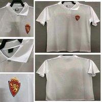 1994 1995 Echte Zaragoza Retro Fussball Jersey 94 95 Poyet Pardeza Nayim Higuera Vintage Classic Football Man Shirt
