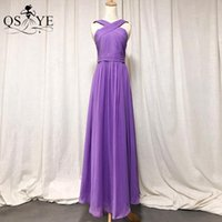 Girl's Dresses Child 14 Purple Flower Girl Dress Colorful Princess Prom Gown Chiffon Party Halter Baby Kids Pageant Evening