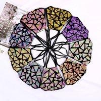 Glitter Face Cover Sequin Decorative Rhinestone Mask for Women Fashion Leopard Fancy Womens Cloth Masks BWB10243