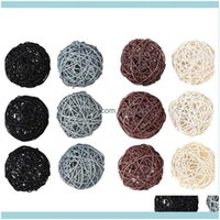 Objects Figurines Aents Décor Home & Garden12-Pack Large Rattan - Decorative Balls For Bowls, Vase Filler, Coffee Table Decor, Wedding Party
