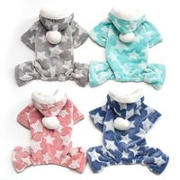 Dog Apparel Autumn Winter Pet Pajamas Jumpsuit For Small Dogs Shih Tzu Yorkshire Pullovers Soft Fleece Puppy Cat Clothes Pets Clothing