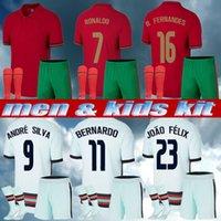 남자 키트 키트 2021 호나우두 축구 유니폼 Joao Felix 2022 Euro Fernandes Diogo J Bernardo National Team Football Shirt