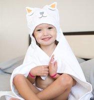 Towels & Robes Cartoon Animals Bath Towel Born Organic Cotton Blanket Children For Kids Hooded Baby Bathrobes
