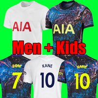 21 22 4th Kane Son Bale Bergwijn Tottingham Soccer Jersey 2021 2022 Lucas Dele Football Kit قميص Ndombele قمم أطفال مجموعات الجوارب موحدة أعلى جودة تايلاند