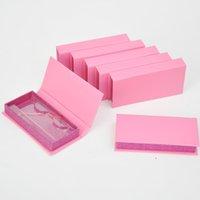 Wholesale Custom Logo Private Label Fasle Eyelashes Packaging Empty Eyelash Box Rectangle Pink Magnetic Paper Boxes 3D Lash Storage Case Package Bulk Vendors