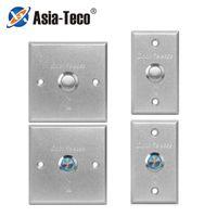Türausgangstaste Release Push-Schalter für Zugangskontrollsystem LED-Lichtzailer Aluminiumlegierung Fingerabdruck