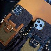 iPhone 12 Pro Max Phoneケース11デザイナーのための高級ブランドファッションケースメタルI 5S 6セルユニバーサル6Sデザイナー財布