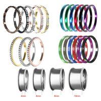 Cluster Rings Cremo Full Zircon Inner Filled Women Aluminum Stainless Steel Base Accessories Stackable Interchangeable Ring Bague Acier