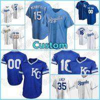 16 Andrew Benintendi Royals Mesh 5 George Brett Custom 15 Whit Merrifield Baseball 41 Carlos Santana City 1 Nicky Lopez Kansas Jersey Mens