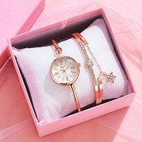 LVPAI Brand Watch для женщин Платье Мода Алмазный браслет Часы Установите простой римский циферблат дамы дамы Relogio Feminino