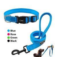 Collari per cani Guinzaglio Didog Collare Reflettent Collar Pet Walking Guinzaglio Nylon Tracking Leads per piccoli cani medium 4 colori