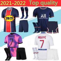 Adulto 2021 Icardi Mbappe Marquinhos 50t Jersey 20/21/22 Verratti Homens Kimpembe Florenzi Maillots de Football Shirt K