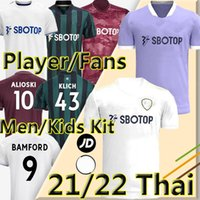 LEEDS SOCCER JERSEY United 21/22 T Roberts Harrison Hernandez Costa Bamford Alioski Clarke 2021 Version des Ventilateurs Version Player Chemise de football Uniformes Kit enfants