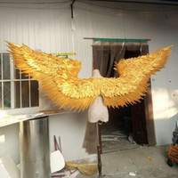 Gold Large Size Adult Angel Feather Wings Catwalk Underwear Fashion Show Puntelli Festival Performance Costume Cosplay