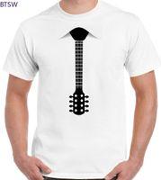 New Harajuku Fashion Printed Unisex Tshirt Guitar T-shirt Mens Funny Electric Acoustic Bass Rock Music Fancy Dress Tie