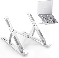 Montajes portátiles para tabletas de 10-15.6 pulgadas, soporte de aleación de aluminio 6 posiciones Altura ajustable de aleación para escritorio portátil refrigerador