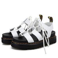 Mujer Sandalia Sandalia Cuña Plataforma Plataforma Mujer Confort Ins Comfort Zapatos de tacón medio Femenino Cross Sexy Correas 2021 Ladies Casual Calzado al aire libre Wenshet