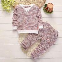 Niño Niño Ropa para niños Diseño de niños Cosas de ropa Conjuntos de ropa de bebé Suéter Pantalones 2 PCS / Sets Kids Knit Ropa Niño Niño Trajes