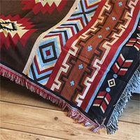 Aztec Havlu Mat Atmak Duvar Asılı Pamuk Kilim Klasik Dokuma Makinesi Yıkanabilir Piknik Kanepe Battaniye Ev Dekorasyonu 130x160 cm 765 R2