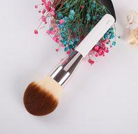 Apack La Powder Foundation Foundation Brush - ناعمة الشعر الاصطناعية مسحوق كبير بلا عيوب - خلاط فرش ماكياج الجمال