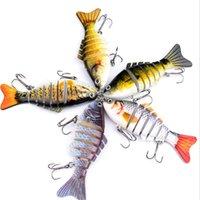Balıkçılık Lures Wobblers Swimbait Crankbait Sert Yem Yapay Mücadele Gerçekçi Lure 7 Segmenti 10 cm 15.5g GWE6459