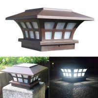 2Pack Safe Waterproof Solar Column Headlight Coffee Garden Light Outdoor Waterdichte wandlamp voor huishoudelijke openbare tuin binnenplaats